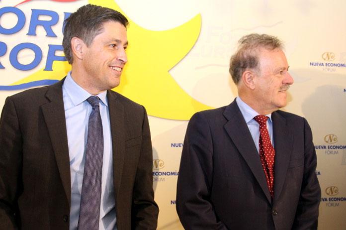 José Rosiñol y Manuel Campo Vidal en el Forum Europa | Foto: Nueva Economía Fórum