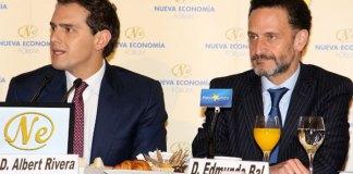 Albert Rivera y Edmun Bal. FOTO: Nueva Economía Fórum
