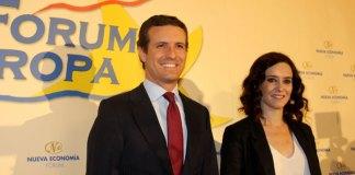 Casado y Díaz Ayuso en el Fórum Europa. Foto: Nueva Economía Fórum