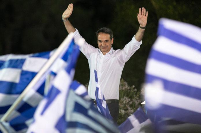 El líder de Nueva Democracia, Kyriakos Mitsotakis