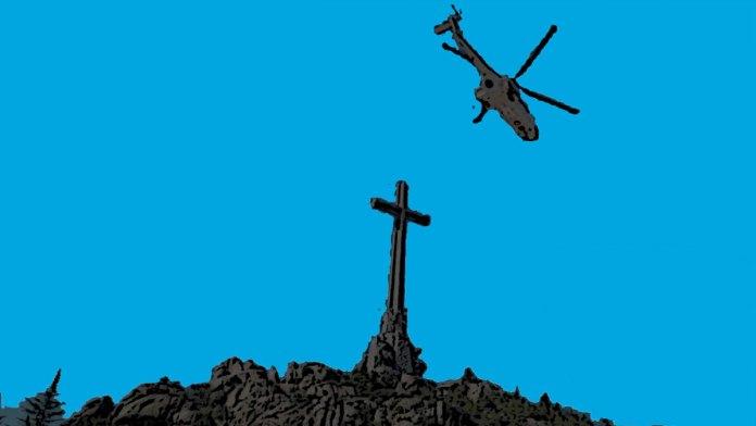 Un helicóptero sobre Cuelgamuros