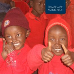Memoria actividades fundación esycu 2009