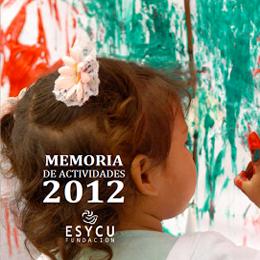 Memoria actividades fundación esycu 2012