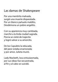 Las damas de Shakespeare