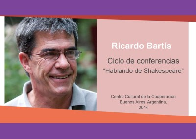 "Ricardo Bartis ""Hablando de Shakespeare"""
