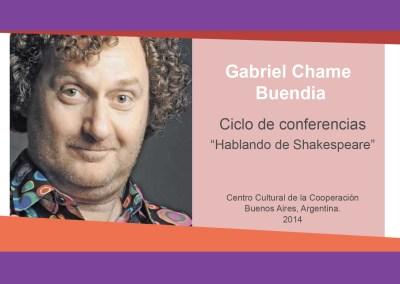 """Gabriel Chame Buendia – """"Hablando de Shakespeare"""""""