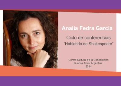 """Analía Fedra García – """"Hablando de Shakespeare"""""""