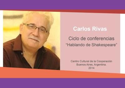 """Carlos Rivas – """"Hablando de Shakespeare"""""""