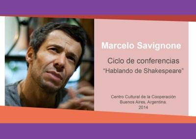 """Marcelo Savignone – """"Hablando de Shakespeare"""""""