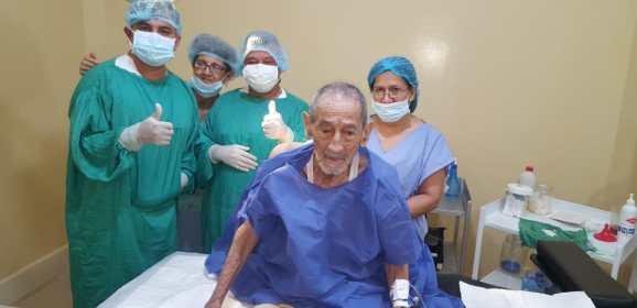 Cirugía de amputación infrapatelar por Gangrena isquémica infectada – paciente de 97 años