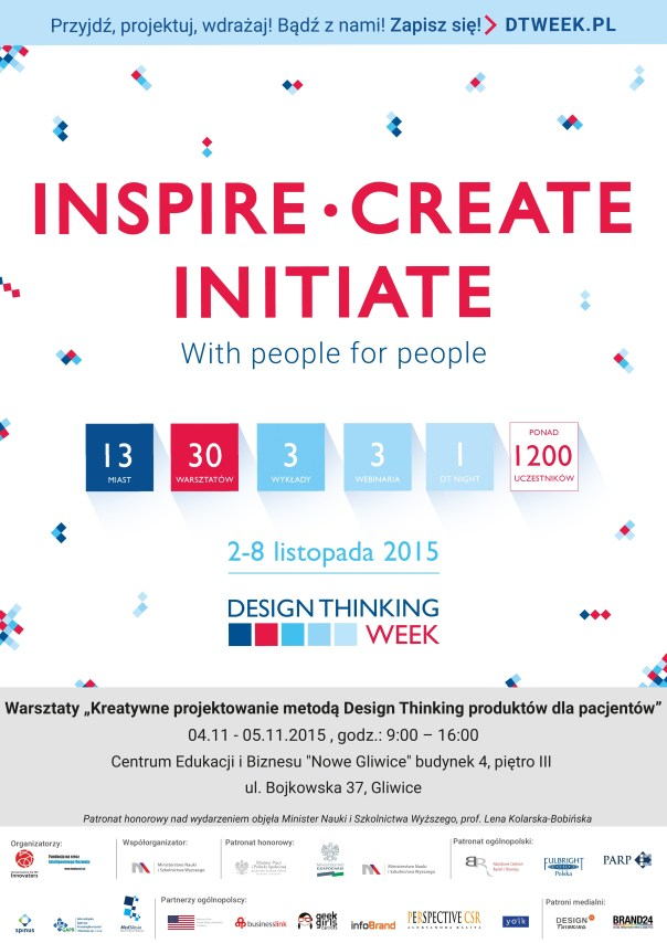 Plakat Design Thinking Week 2015 Gliwice