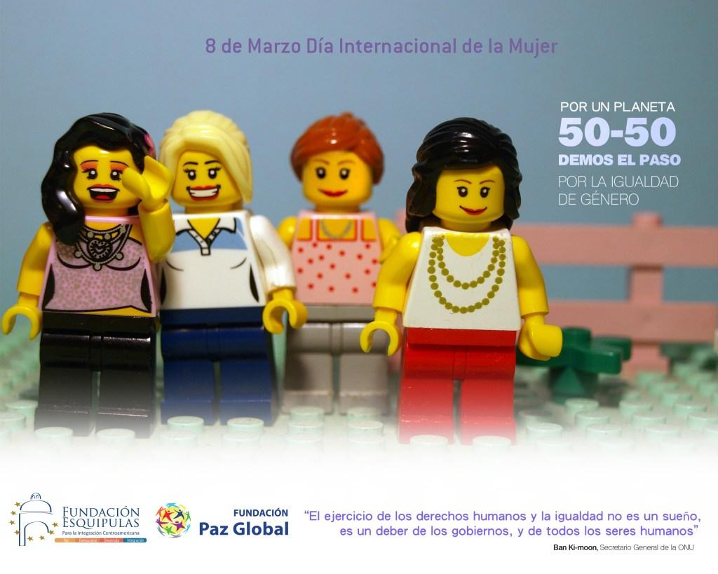 """Po un planeta 50-50: demos el paso por la igualdad de género. """"El ejercicio de los derechos humanos y la igualdad no es un sueño,es un deber de los gobiernos y de todos los seres humanos"""""""