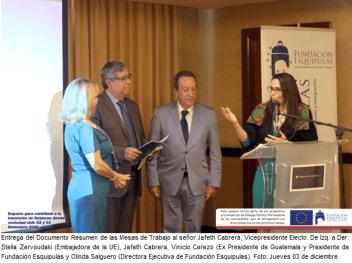 Sociedad Civil contribuye con la Transición de Gobierno - Guatemala 03 de diciembre de 2015