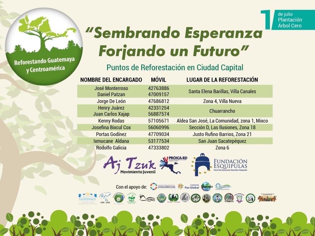 muro - FB- REFORESTANDO 2017- Puntos de reforestancion