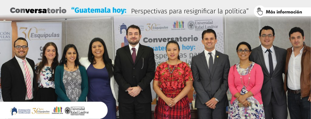 pagina web fundacion -conversatorio Guatemala hoy- foto de grupo