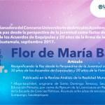 Les invitamos a leer el artículo de Flor de María Bacajol