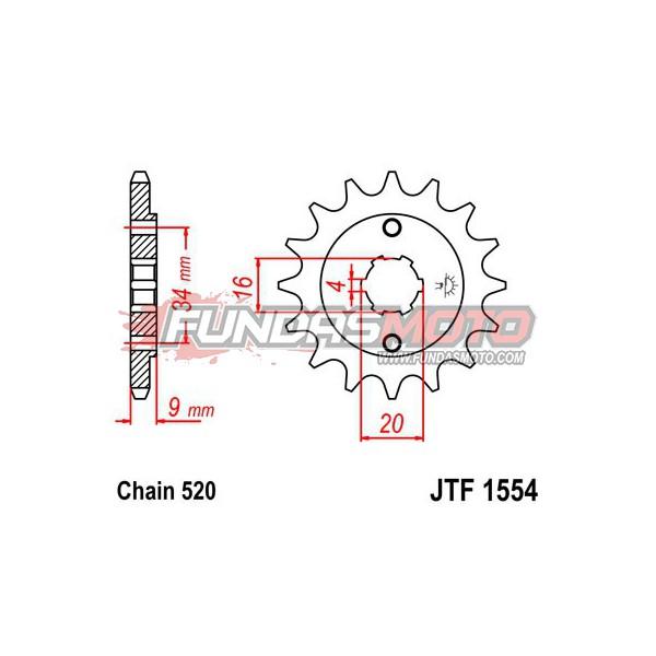 PIÑON JT SPROCKETS JTF1554.14 DIENTES DE ACERO PASO 520