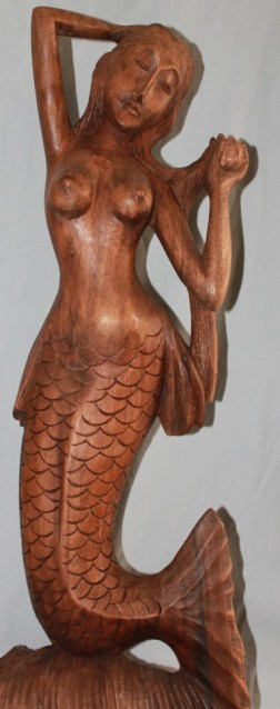 Carved Wood Mermaid (c) Sherry Fundin