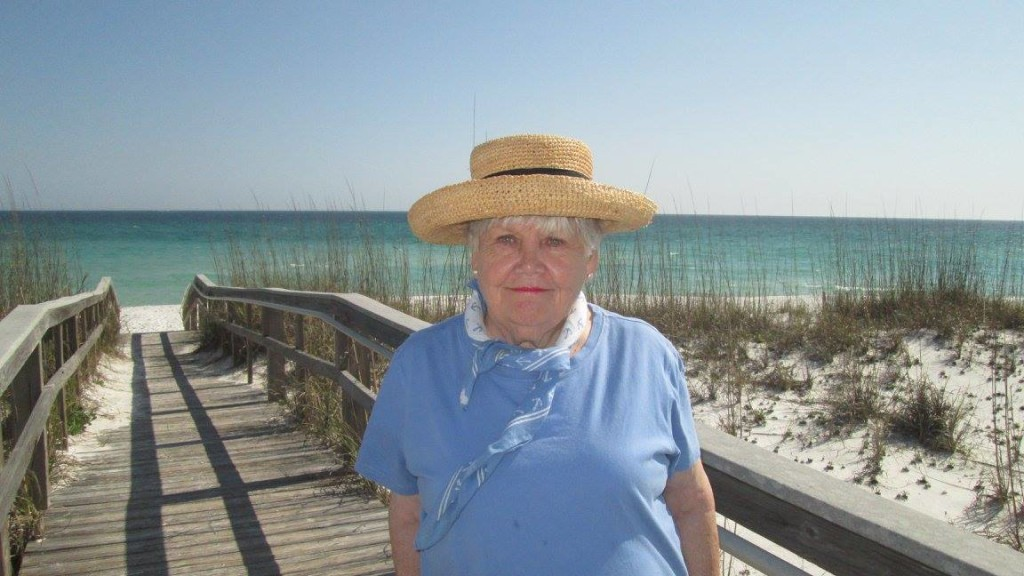 Hubby and his mom on Pensacola Beach by Sherry Fundin