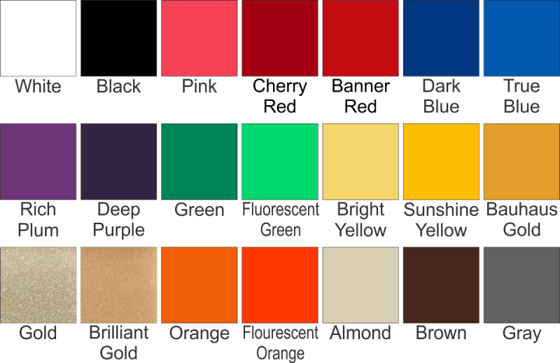 glass tile sizes and colors