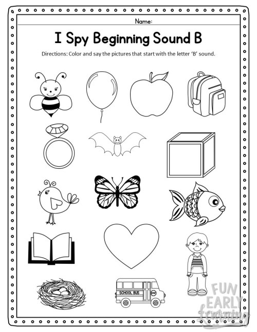 small resolution of I Spy Beginning Sounds Activity - Free Printable for Speech and Apraxia