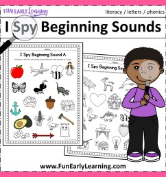 I Spy Beginning Sounds Activity - Free Printable for Speech and Apraxia [ 1152 x 1152 Pixel ]
