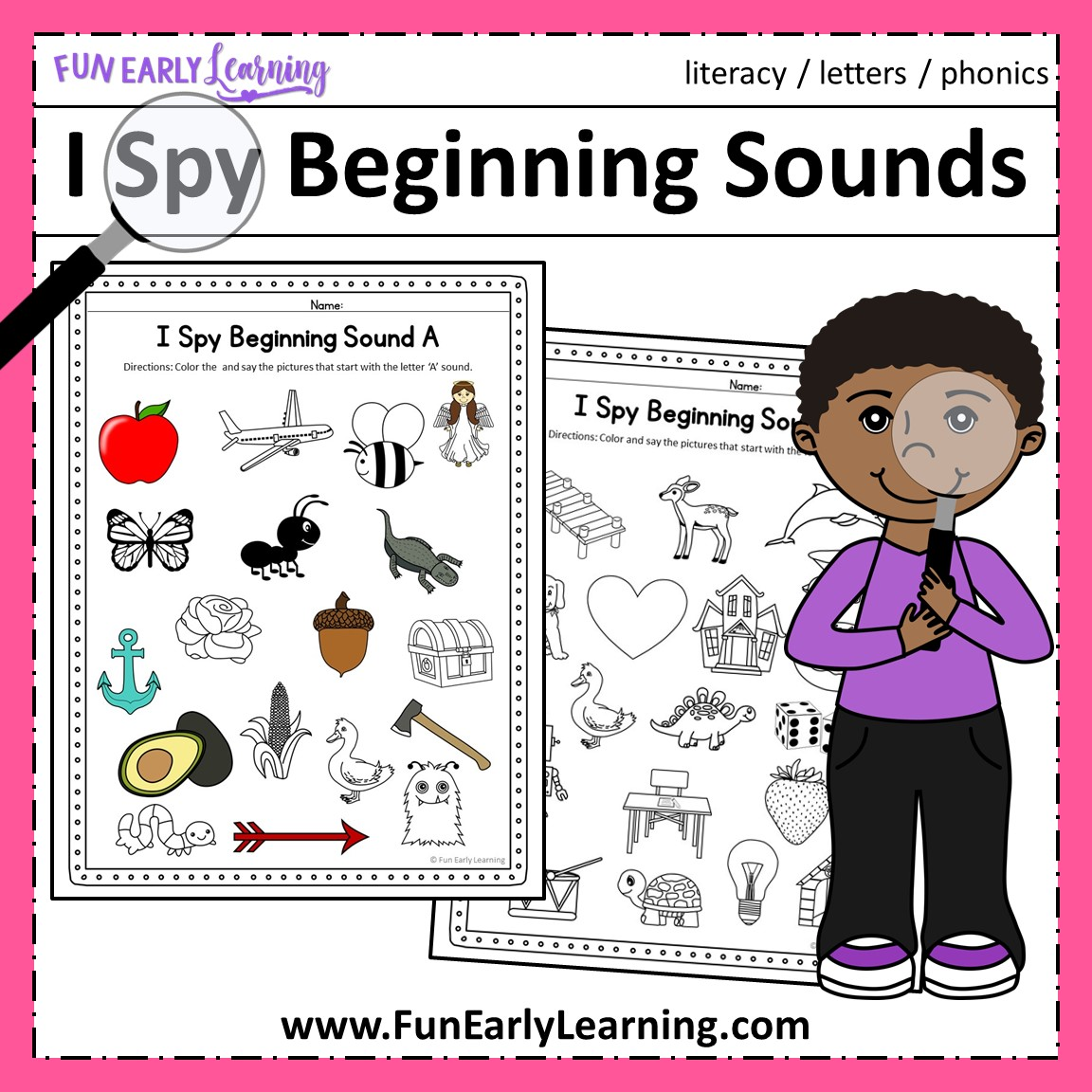 hight resolution of I Spy Beginning Sounds Activity - Free Printable for Speech and Apraxia