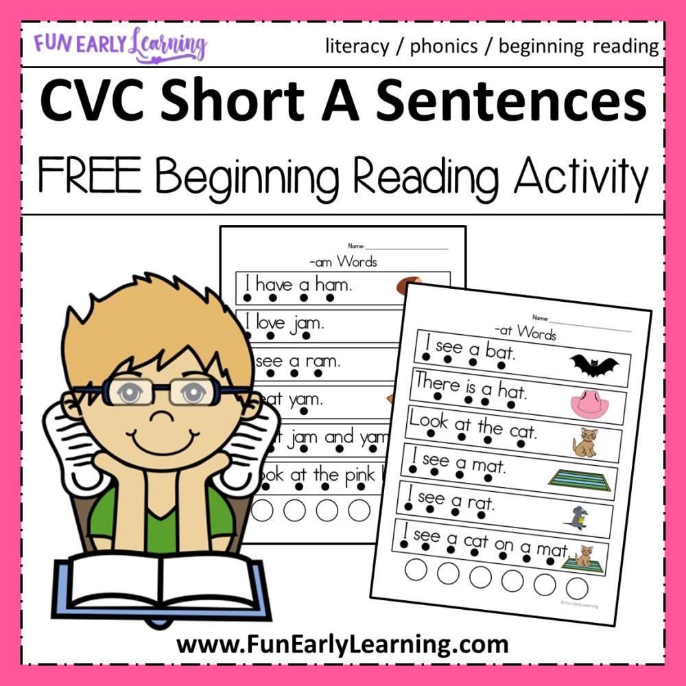 medium resolution of CVC Short A Sentences - Beginning Reading and Phonemic Awareness