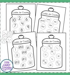 Fun Cookie Jar Counting Activity for Preschool and Kindergarten [ 1152 x 1152 Pixel ]