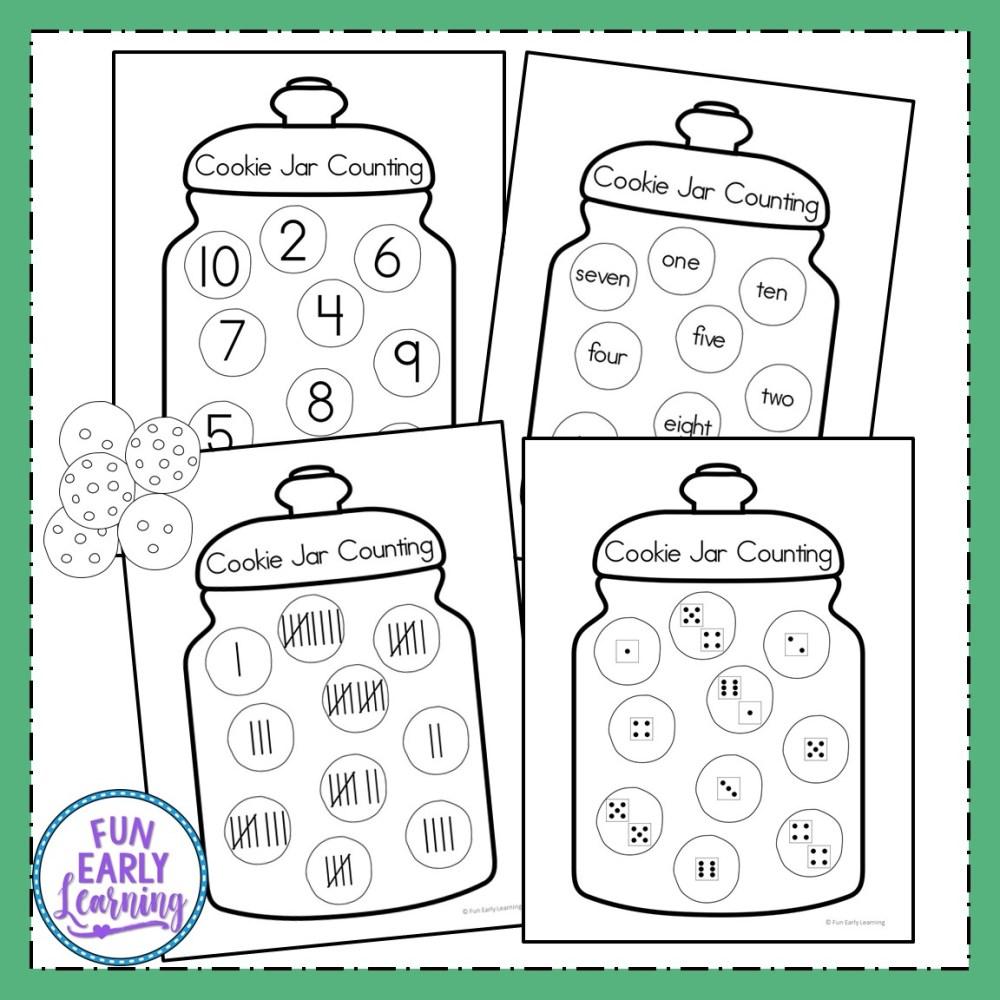 medium resolution of Fun Cookie Jar Counting Activity for Preschool and Kindergarten