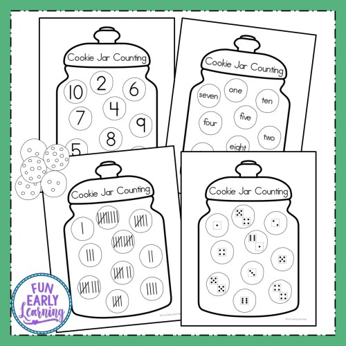 small resolution of Fun Cookie Jar Counting Activity for Preschool and Kindergarten