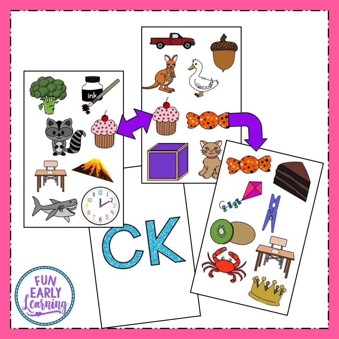 Matching Mission Ck Sound Articulation Game For Speech Therapy