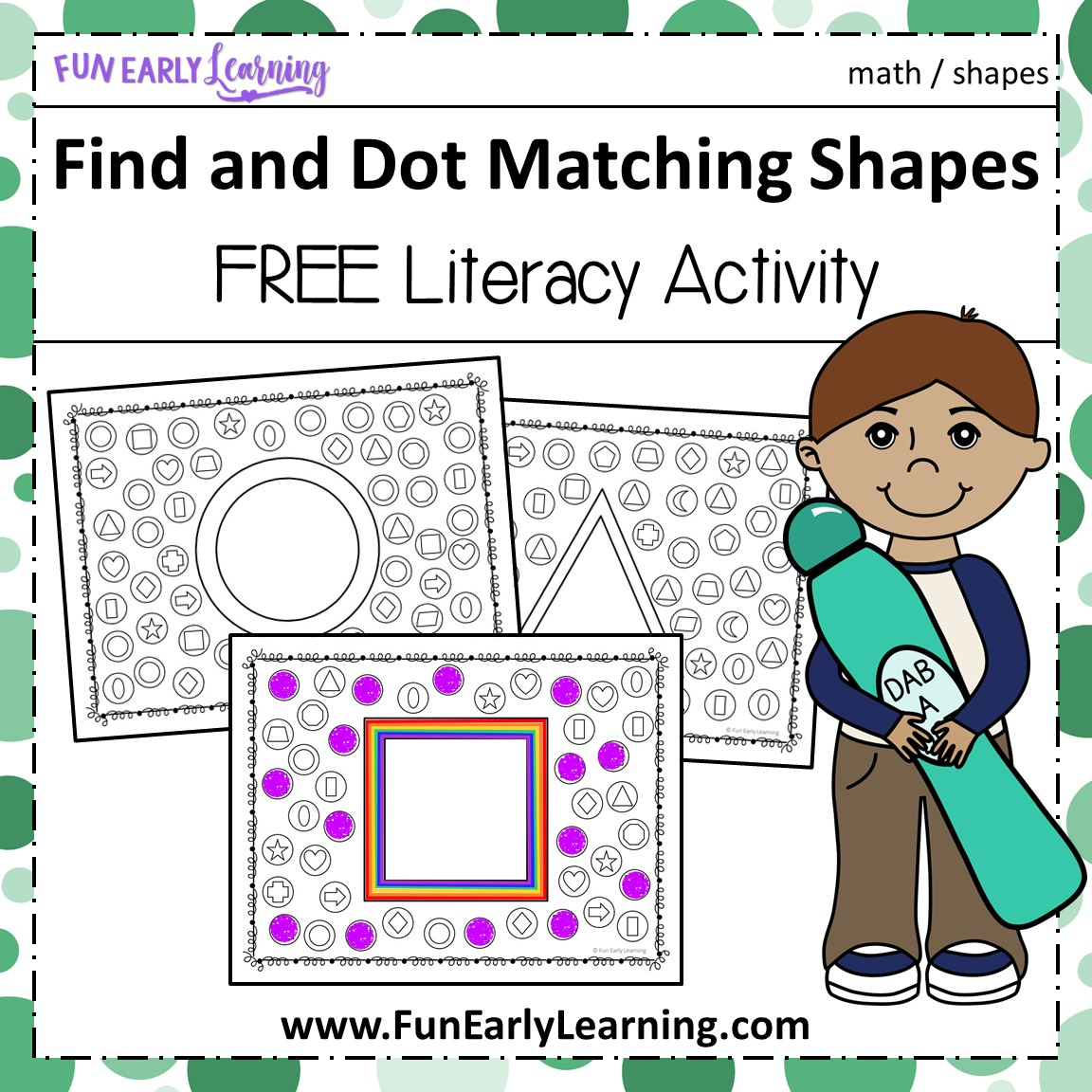 Find And Dot Matching Shapes Early Childhood Math Activity