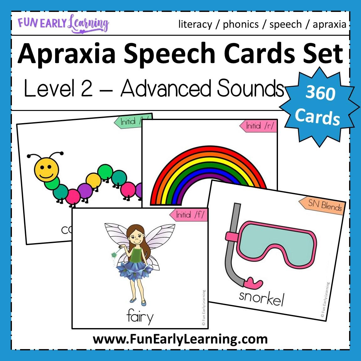 Apraxia Speech Cards Set Level 2