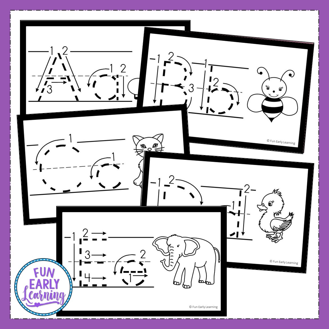 Free Printable Tracing Alphabet Letters Upper And