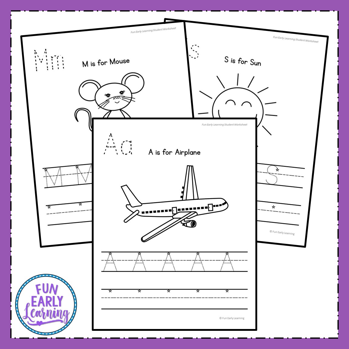 Uppercase Letter Worksheets With Guided Lessons For Prek And Kinder
