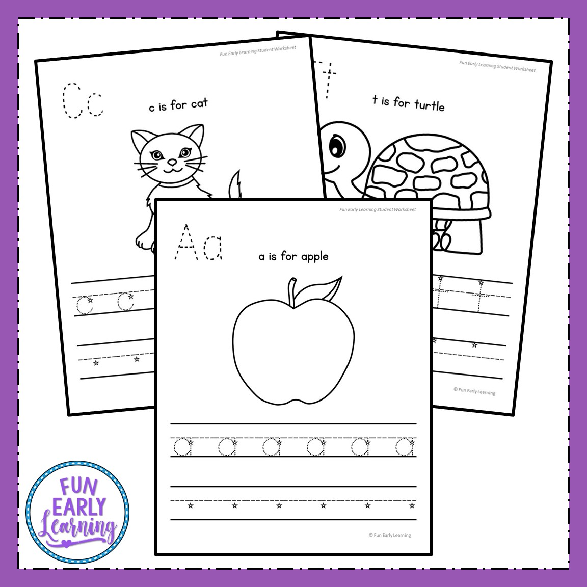 Lowercase Letter Worksheets With Guided Lessons For Prek