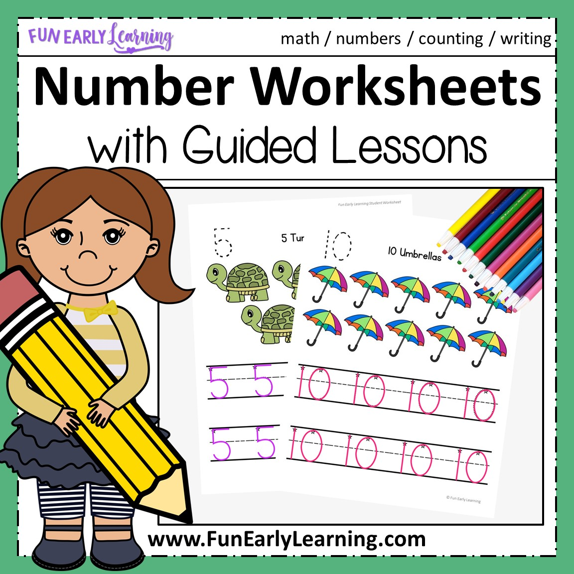 Numbers 1 20 Worksheets With Guided Lessons For Prek And