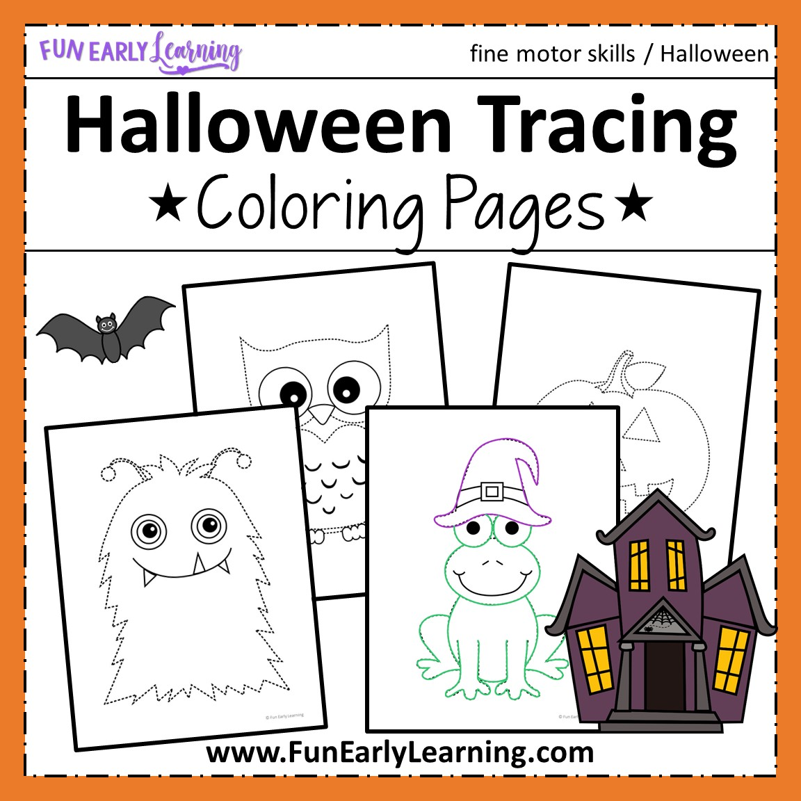 Halloween Fine Motor Skills Free Printable Activity Sheets