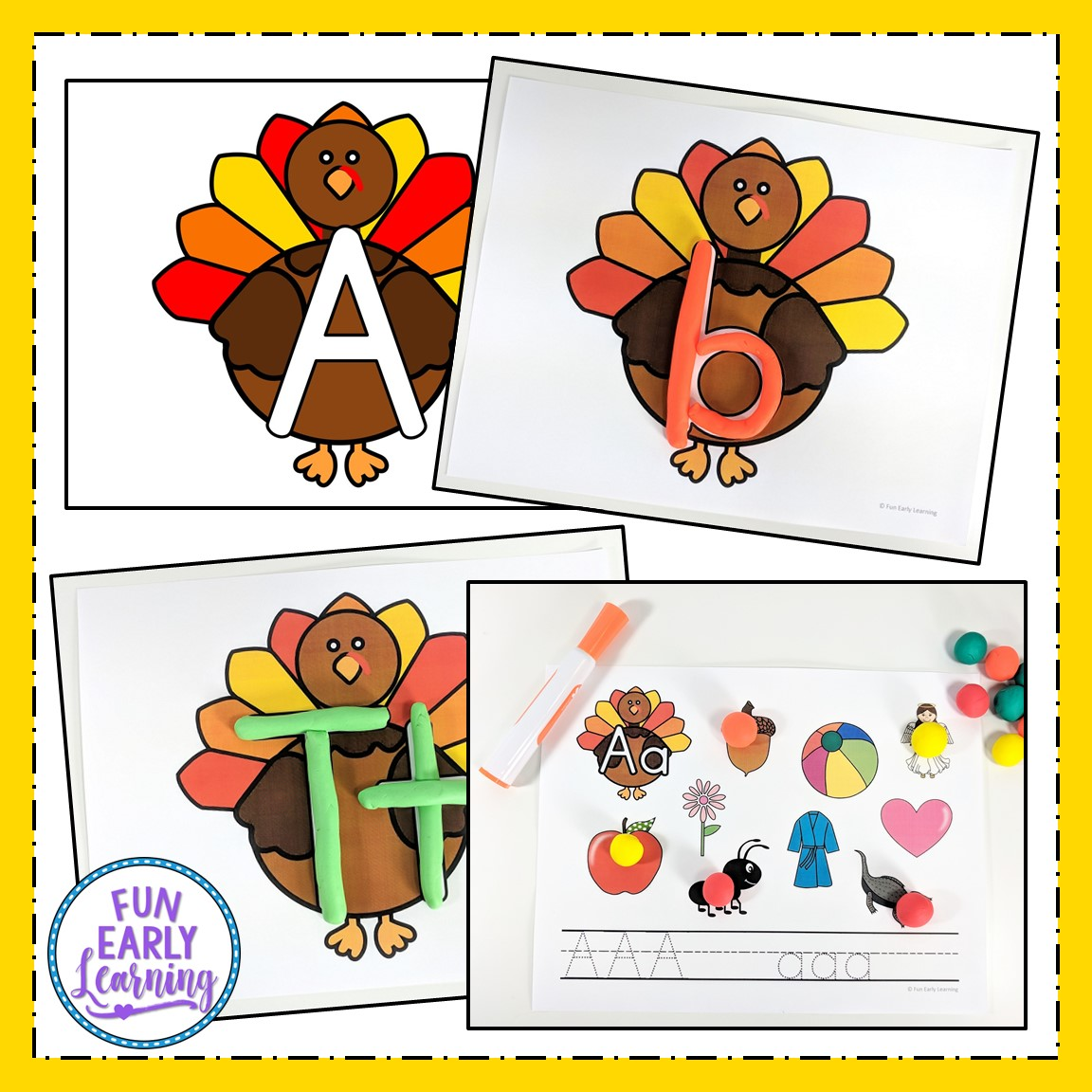 Play Dough Fun With Turkeys Math And Literacy Activities
