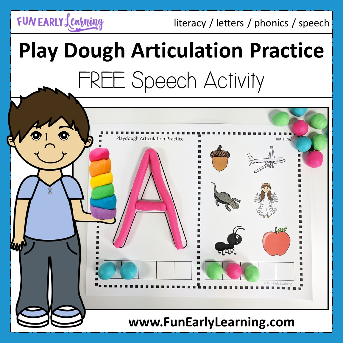 Play Dough Articulation Practice Speech Activity For