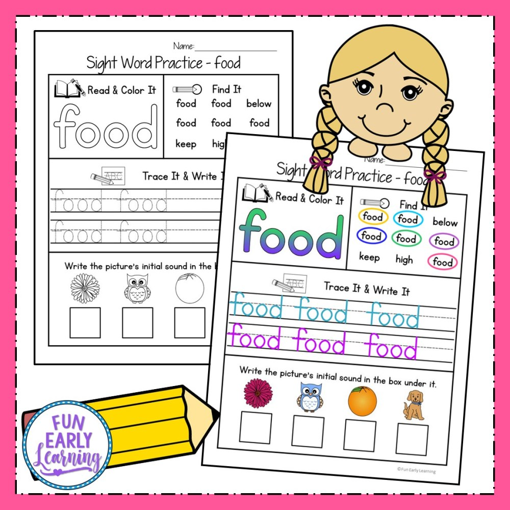 medium resolution of Sight Word Practice Bundle for Fry's 1st