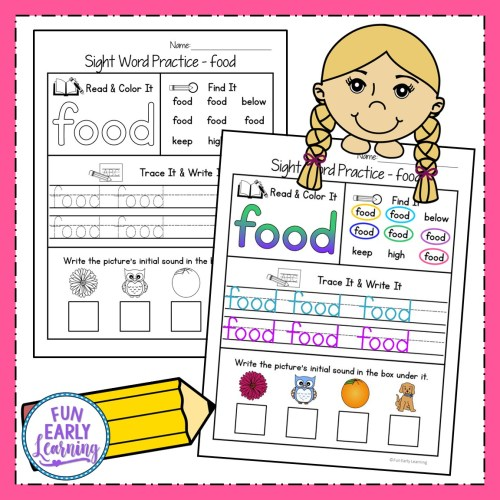 small resolution of Sight Word Practice Bundle for Fry's 1st