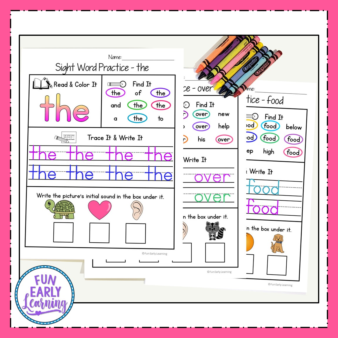 hight resolution of Sight Word Practice Bundle for Fry's 1st