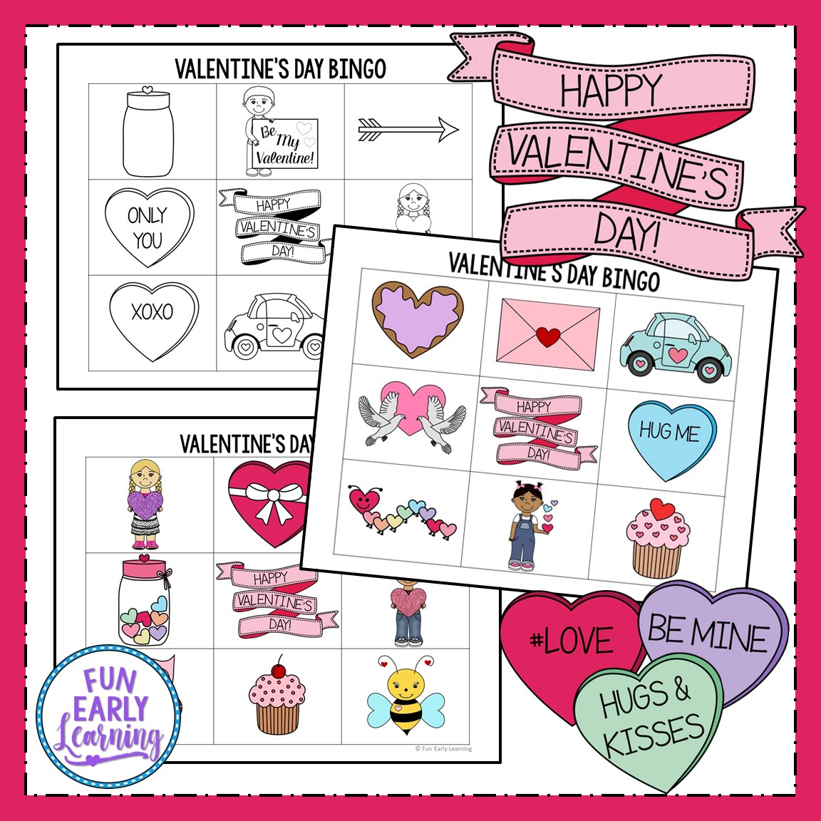 Valentine S Day Bingo Free Printable For Preschool And Kindergarten