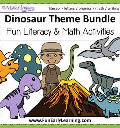 Dinosaur Theme Bundle - Literacy [ 1152 x 1152 Pixel ]