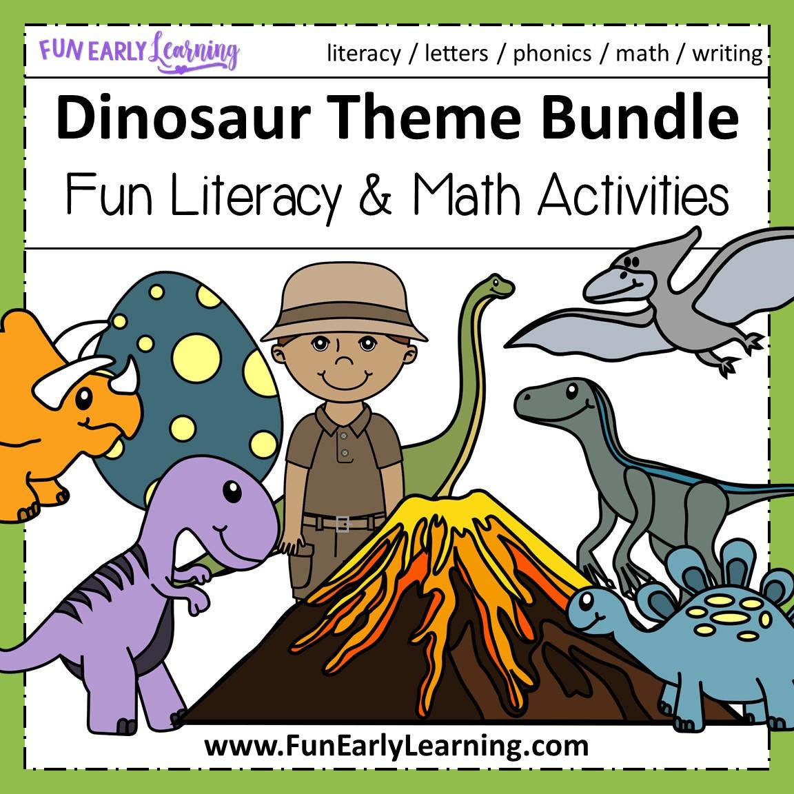 hight resolution of Dinosaur Theme Bundle - Literacy