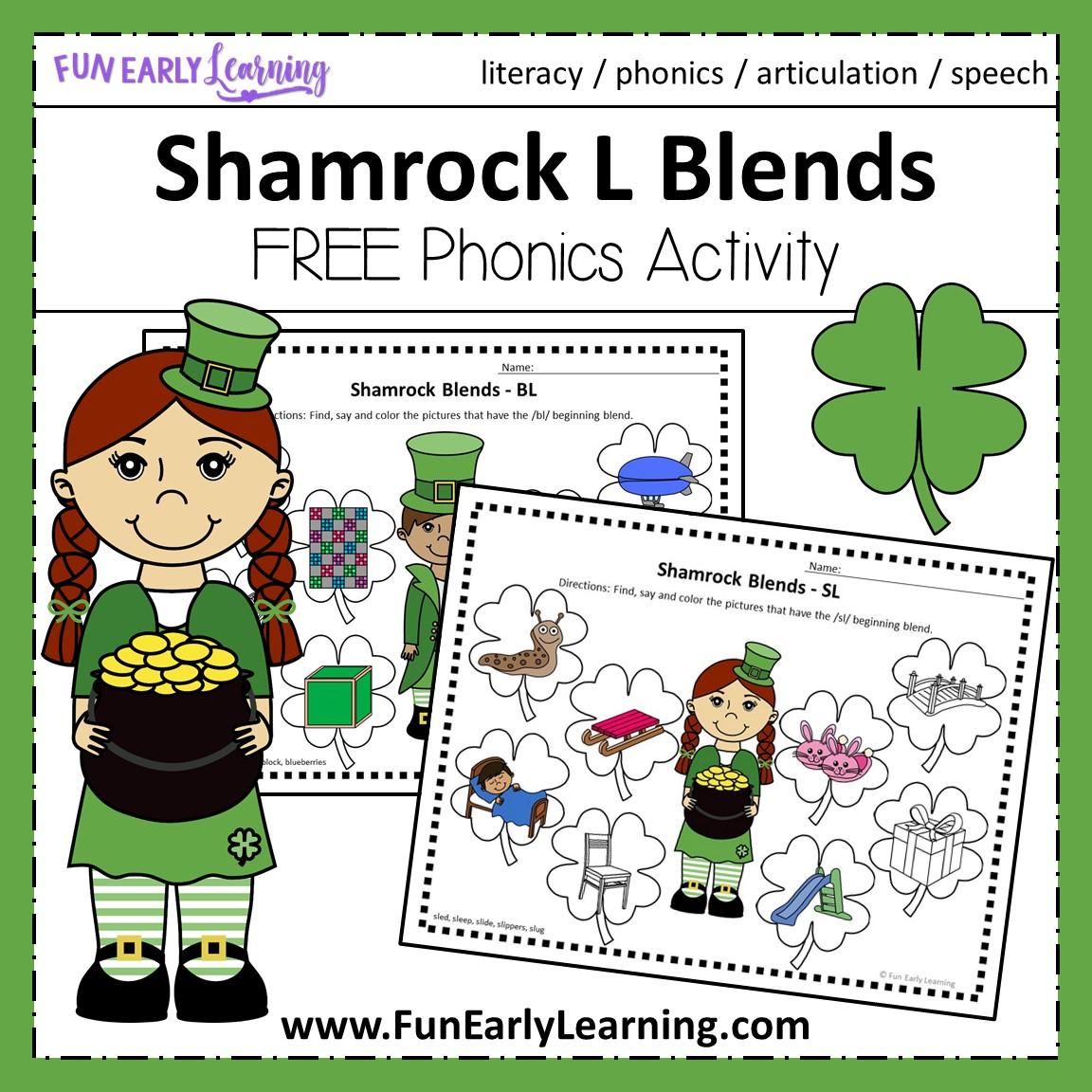 Shamrock L Blends Articulation Speech Activity For