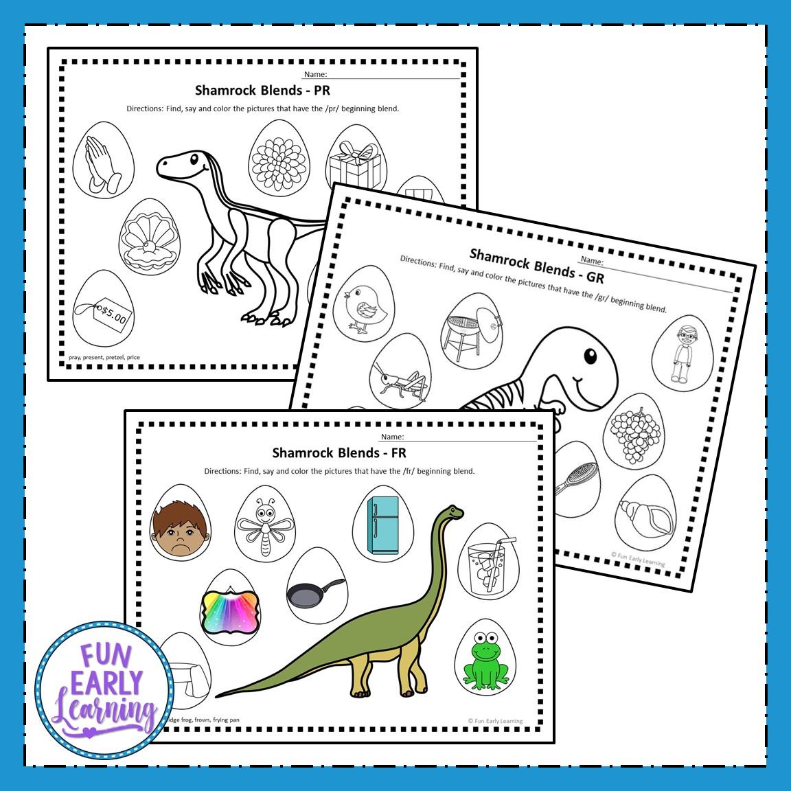 Dinosaur R Blends Articulation Speech Activity For Preschool And Kinder