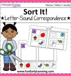 Sort It! Letter-Sound Correspondence NO PREP Activity for Phonics [ 1152 x 1152 Pixel ]